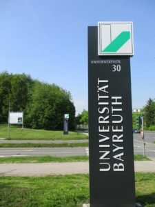 Universität Bayreuth: externes Wegeleitsystem
